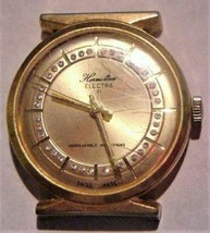 Vintage Homilton Electra 21 Gold-Tone Watch w/Crystals Swiss Parts Repair - $34.95