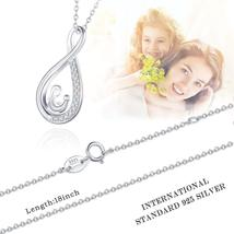 Sterling Silver Infinity Necklace Mother And Daughter Forever Love Women Pendant image 3