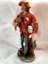 """Vintage Homco Old Timer 11"""" tall Carrying Firewood to his home figurine - $34.65"""