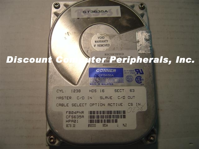 635MB 3.5IN IDE Drive CONNER CFS635A Free USA Ship Our Drives Work