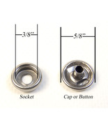 Snap Cap & Socket, Marine Grade Stainless Steel, Fasnap Brand - $4.29+