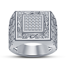 White Gold Fn 925 Silver Sim Diamond Men's Spacial Kama Sutra Ring Free Shipping - $123.40