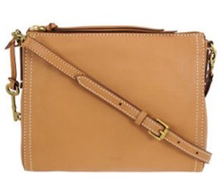 Fossil Emma EW Ladies Medium Tan Leather Crossbody Handbag ZB6842 - $95.50