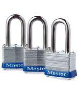 Master Lock 3TRILF Keyed-Alike Padlock, 1-1/2-inch Shackle, 1-9/16-inch ... - $29.99
