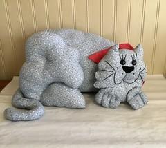 Handmade Cloth Kitty Cat - $15.54