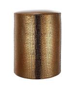 "Ceramic Textured Gilt Garden Stool D14""x18"" - JC0065 - $98.99"