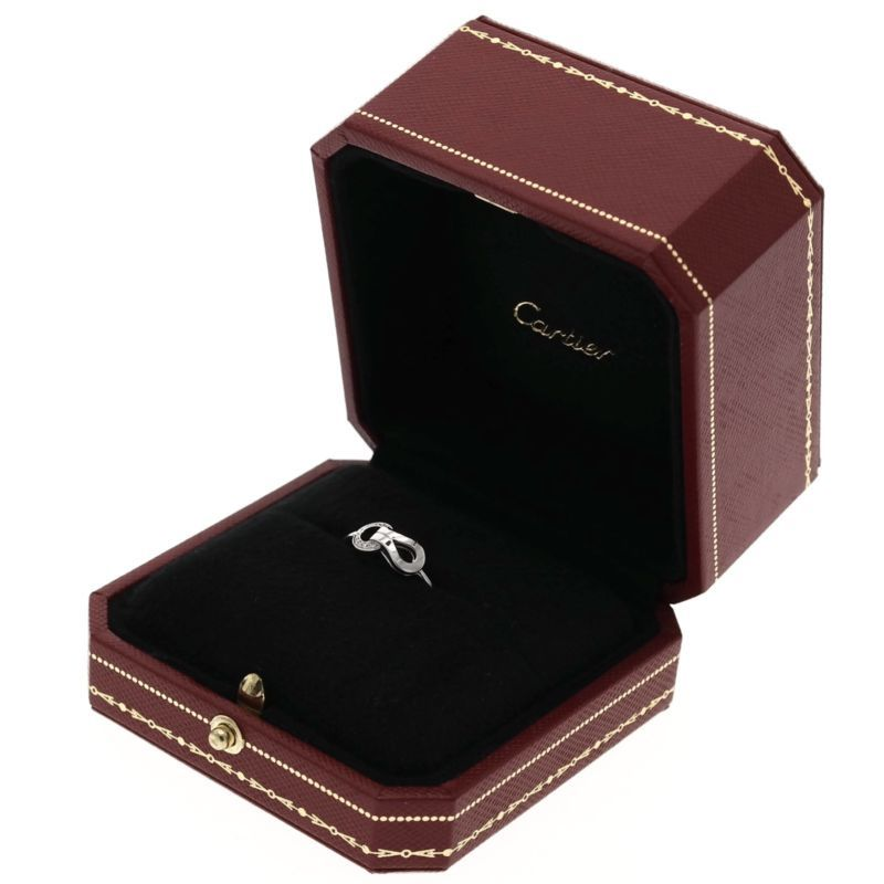 Cartier Agrafe Ring With Diamonds Size 7 New