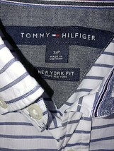 Tommy Hilfiger New York Fit Men's Ls Thin BUTTON-DOWN SHIRT-S-100% COTTON-NICE - $9.99