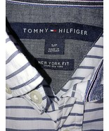 TOMMY HILFIGER NEW YORK FIT MEN'S LS THIN BUTTON-DOWN SHIRT-S-100% COTTO... - $9.99
