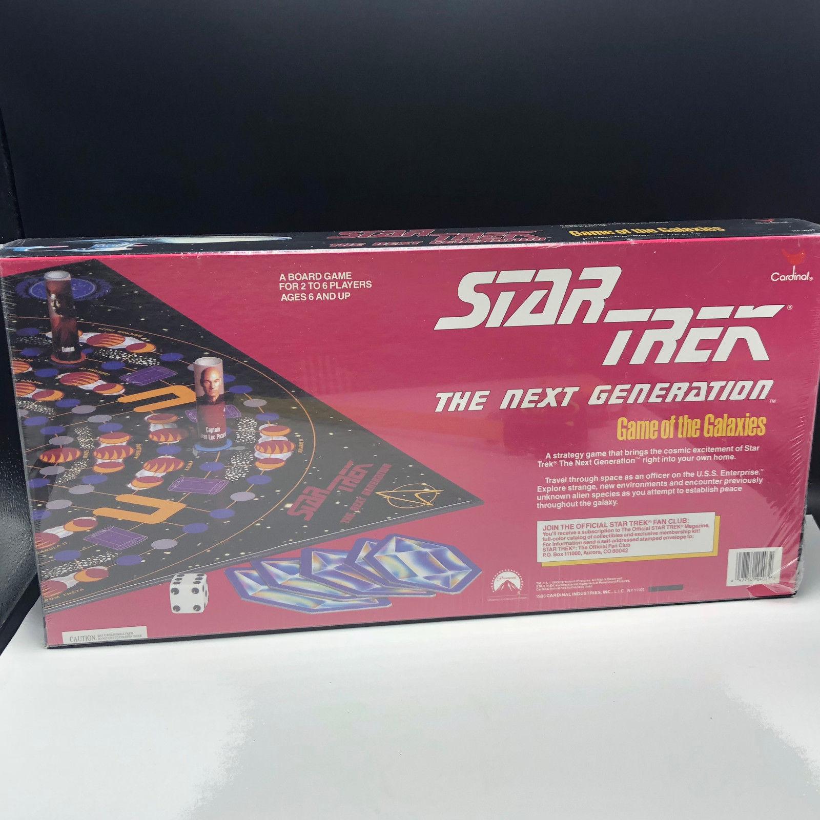 STAR TREK BOARD GAME GALAXIES new sealed vintage 1993 cardinal next generation