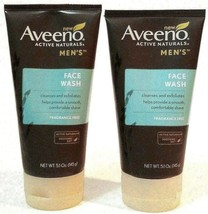 2 PACK Aveeno Active Naturals Men's Face Wash Fragrance Free 5.1 oz - $45.98
