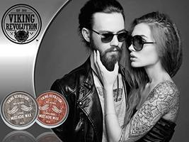Mustache Wax 2 Pack - Beard & Moustache Wax for Men - Strong Hold Helps Train Ta image 3