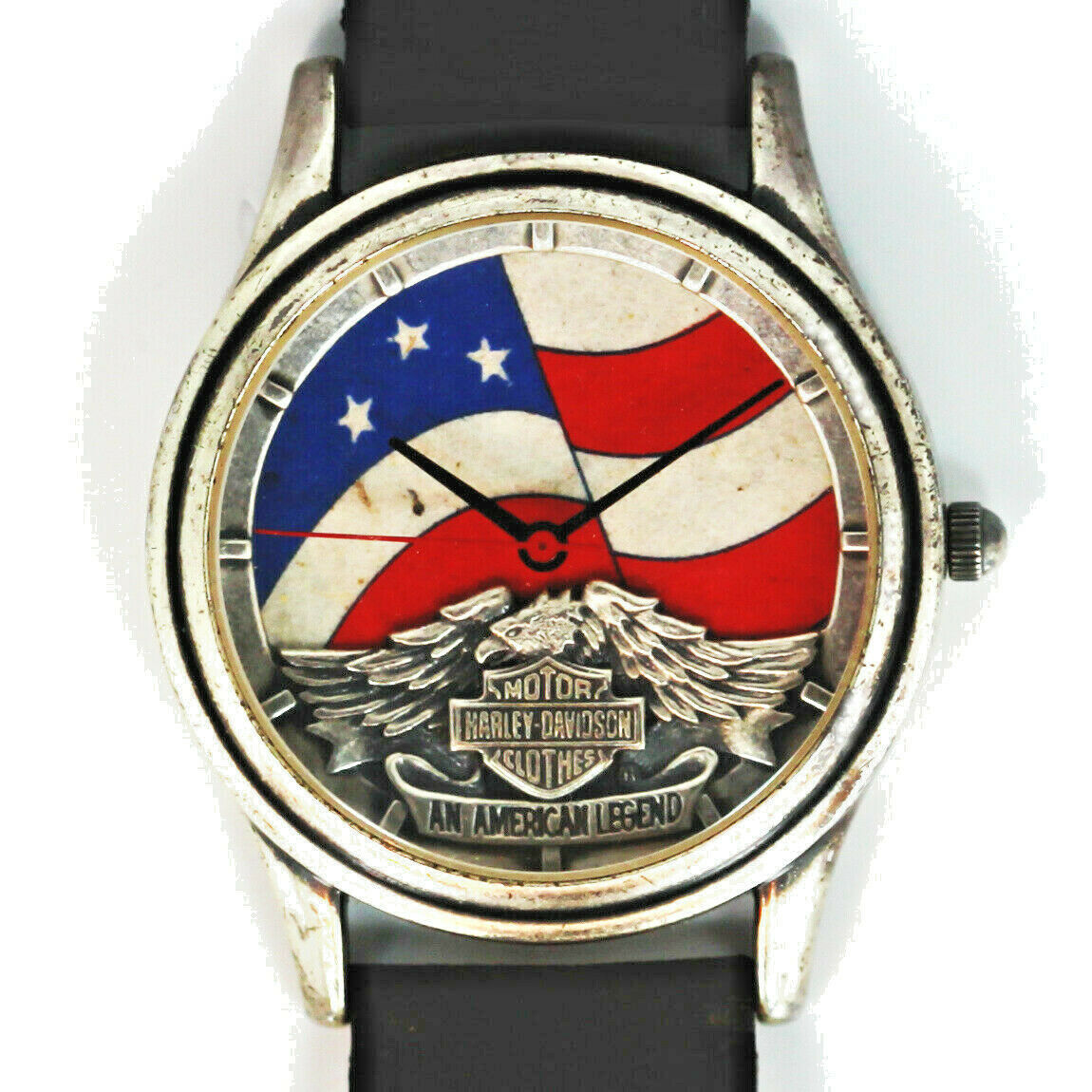 Primary image for Harley Davidson Vintage Unworn Stars And Stripes Dial, Extremely Rare Watch $129