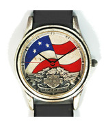 Harley Davidson Vintage Unworn Stars And Stripes Dial, Extremely Rare Wa... - $127.56