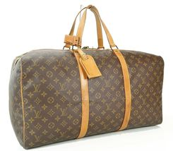 Authentic LOUIS VUITTON Sac Souple 55 Monogram Tote Duffle Bag #34978 image 2