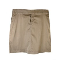 OLD NAVY Skirt 14 Stretch Khaki Cotton Twill Straight Fly Front Pockets - $11.88
