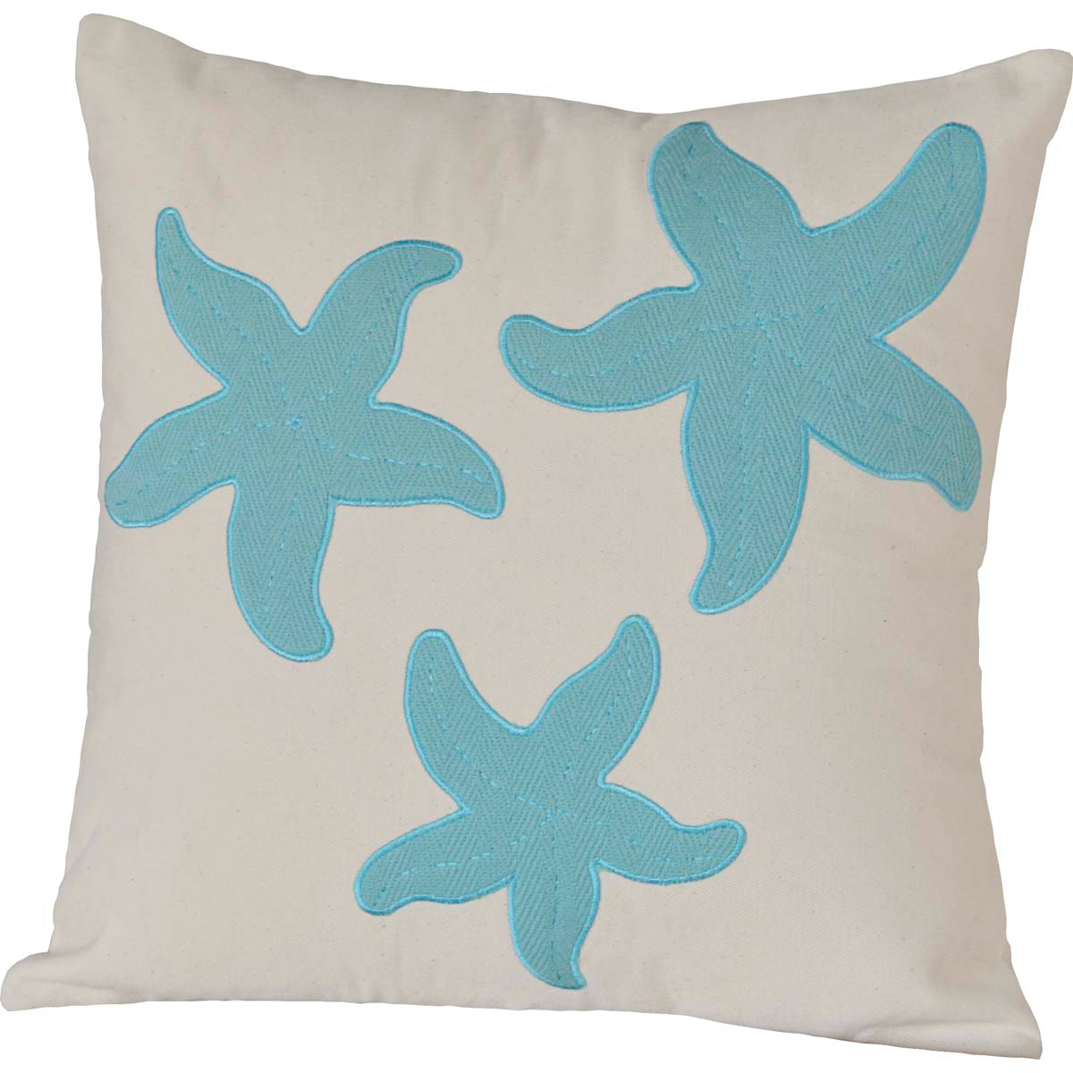 "Three Starfish Pillow - 18""x18"" - VHC Brands - Country Farmhouse"