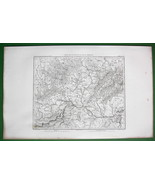 1859 ANTIQUE MAP - NE Austria, Moravia in Czech Republic & SW Slovakia - $20.24