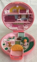 VINTAGE BLUEBIRD POLLY POCKET BUTTON'S ANIMAL HOSPITAL COMPLETE 1989 PIN... - $34.64