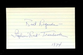 RED TRAMBACK Signed 3x5 Index Card (d.1979) 1940 Giants Autograph - $11.93