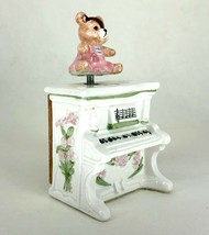 "Schmid Music Box Piano Honey Bear 'the Entertainer"" - $19.34"