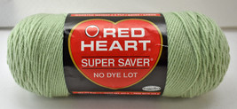 Red Heart Super Saver Worsted Weight Acrylic Yarn-1 Skein 8 oz Frosty Green - $11.35