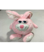 Ganz Eyeballs Chomper Bunny Rabbit Pink White Plush Round Stuffed Animal... - $29.99