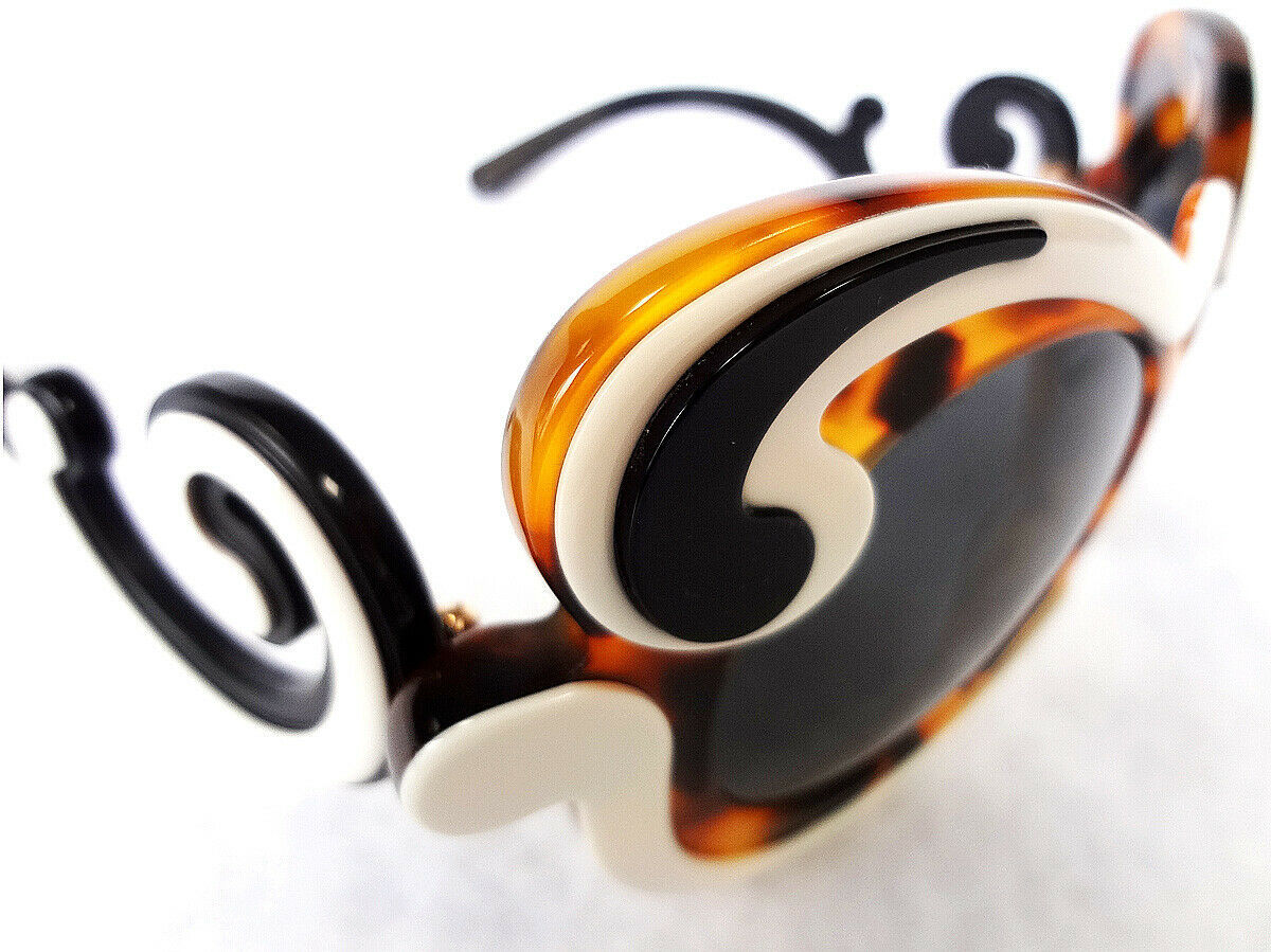 PRADA Women's Sunglasses PR-23NS Havana/Ivory Minimal Baroque MADE IN ITALY-New!
