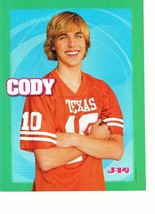 Cody Linley teen magazine pinup clipping Texas number 10 crossed arms J-14