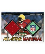 Rohan Davey 2002 Topps Debut All-Star Materials Jersey Card AM-RD LSU Ti... - $3.00