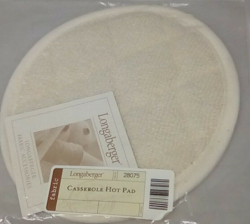 Primary image for Longaberger Protective SMALL QUILTED OVAL HOT PAD 6 x 8 1/2 ~ Brand New in Bag!