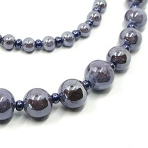 Necklace Antica Murrina Venezia,COA25A58,Spheres Purple,Length 90 CM image 2