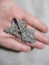 BLACK HILLS Vintage Sterling Diamond Laser Cut's Knot  Ribbon Brooch Pin... - $59.99