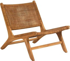 Occasional Chair DOVETAIL EMO Unfinished Natural Teak Woven - $819.00