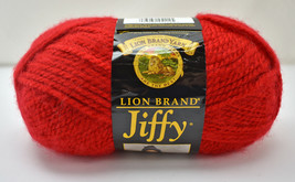 Lion Brand Jiffy Quick & Easy Mohair Look Acrylic Yarn - 1 Skein True Red #114 - $7.55