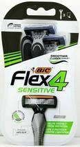 BIC Flex4 Men's Disposable Razors Sensitive 3 Count Pivot Head Anti Slip  - $8.99