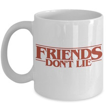 Stranger Things Fan Gift 11 Friends Don't Lie Mike Eleven Coffee Mug Ceramic Whi - $19.55+