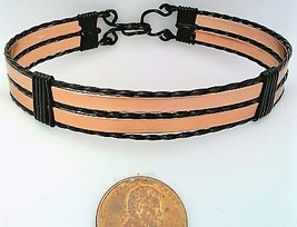 Copper Anodized Aluminum Black Copper Wire Wrap Bracelet 15 - $16.00