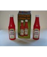 Souvenir, Heinz ketchup plastic bottles salt & pepper shaker set. mib. - $6.00