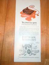 Vintage Electrasol Dishwasher Detergent Print M... - $3.99