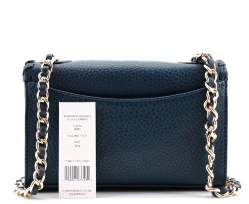 441ddecb7e6 Tory Burch Marion Embossed Patent Shrunken Shoulder Bag In Pale ...