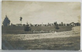 Canby MN Cemetery, Mill / Elevator in Distance RPPC Real Photo 1909 Post... - $36.95