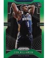 Zion Williamson Prizm 19-20 #248 Green Prizm Rookie Card New Orleans Pelicans - $220.00