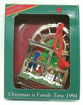 Christmas Ornament American Greetings Christmastime is Familytime 1996 Box - $9.89