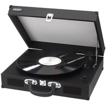 Jensen JTA-410 Black Portable Battery Operated Turntable w/Built-in Spea... - £45.32 GBP