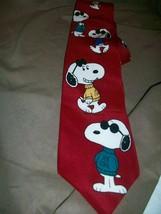 P EAN Uts Charles Schulz Silk Tie Necktie Snoopy Joe Cool - $14.84