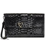 Victoria's Secret Love Tech Wallet Clutch Black Python NWT - $42.06