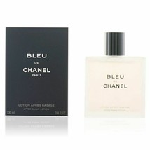 BLEU DE CHANEL 3.4 oz 100 ml AFTER SHAVE LOTION (LIQUID) SPLASH MEN NEW ... - $92.14