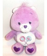 "Share Bear Care Bear Plush 2003 Namco Lollipops with Hears Purple Lilac 13"" - $12.86"