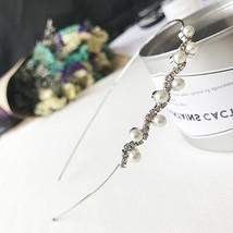 TB1055 Korean Thin Crystal Flower Headband Wedding Bridal Hair Accessori... - £4.59 GBP